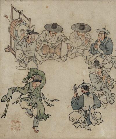 Kim Hong-do, '단원풍속도첩 (Genre Painting Album by Danwon) ', 18th century
