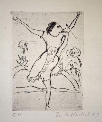 Erich Heckel, 'Römische Tänzerin', 1909