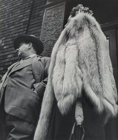 Leon Levinstein, 'Man in Suit, Woman in Fur Coat', 1954-printed later