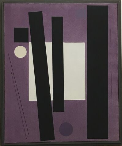 Günter Fruhtrunk, 'carré blanc ', 1956