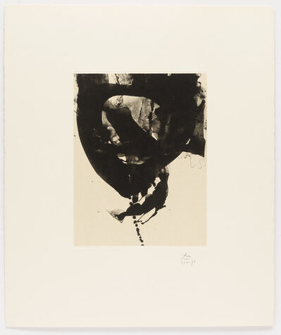 Robert Motherwell, 'Nocturne VIII, from Three Poems by Octavio Paz', 1987-1988