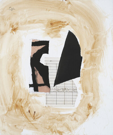 Robert Motherwell, 'White Music IV', 1985