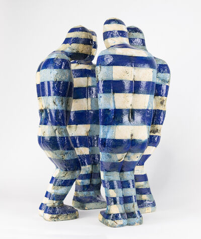 J. D. Perkin, 'Huddle with Blue Stripes', 2012
