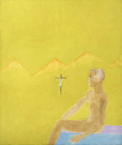 Craigie Aitchison, 'Boy Seated and Crucifixion', 1984