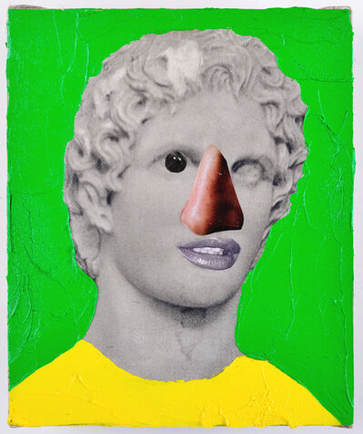 Przemek Matecki, 'Head of the Acropolis, from the Small Paintings series (F003)', 2016-2018