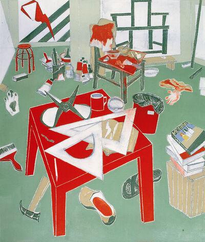 Mao Xuhui 毛旭辉, 'Red Square Table, My Studio', 2009-2010