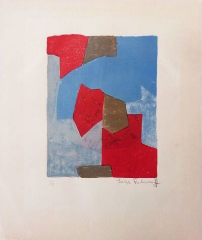 Serge Poliakoff, 'Composition in blue and red n°44', 1964