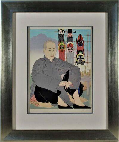 "Paul Jacoulet, 'Le Vendeur de Masques Chinois"" {The Chinese Masks Seller)', 1940"