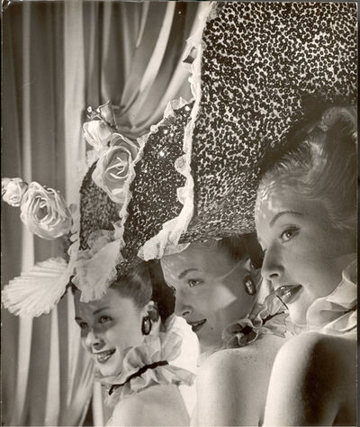 Gjon Mili, 'Three Showgirls from Latin Quarter', 1947