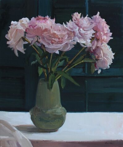 Maryann Lucas, 'Pink Peonies in Green', 2017
