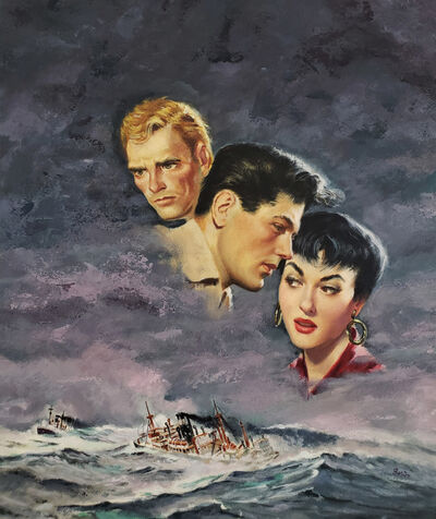 Harry Barton, 'Romantic Love Triangle at Sea, Gina Lollobrigida', 1958