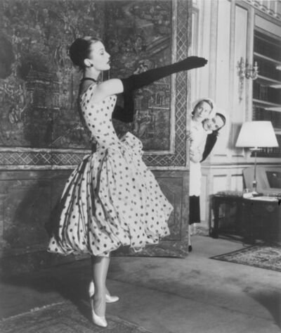 Louise Dahl-Wolfe, 'Mary Jane Russell in Dior Dress, Paris', 1950