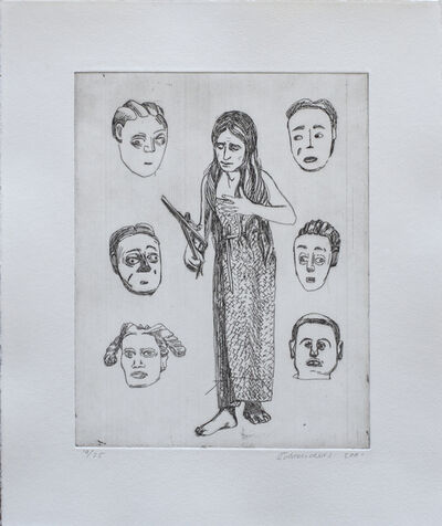 Claudette Schreuders, 'Untitled (Woman and six faces)', 2001