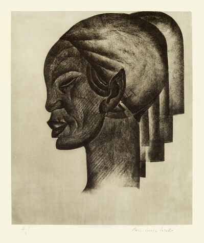 Lovet-Lorski  Boris, 'Abyssinian Head (profile)', 1929