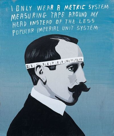Javier Mayoral, 'I Only Wear a Metric System Measuring Tape Around My Head Instead of The Less Popular Imperial Unit System', 2014