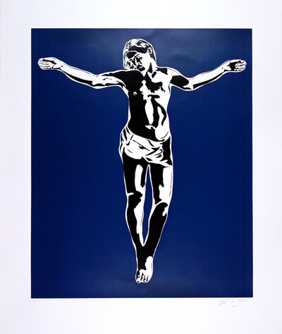 Blek le Rat, 'Jesus (Blue Version)', 2008