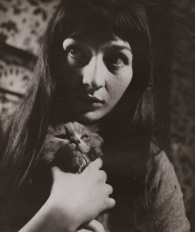 Roger Parry, 'Juliette Greco with Her Cat', 1943 / 1943c