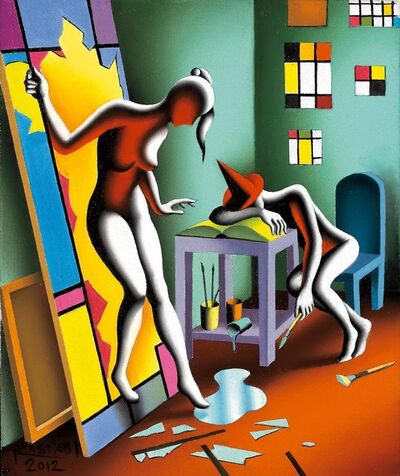 Mark Kostabi, 'Awakening the Past ', 2018