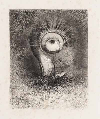 Odilon Redon, 'Il y eut peut-être une vision première essayée dans la fleur plate 2 from Les origines', 1883