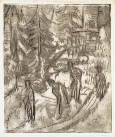 Ernst Ludwig Kirchner, 'Making Hay', 1924