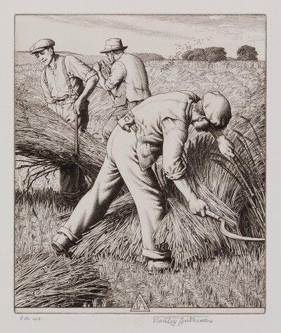 Stanley Anderson, 'Wind-swept Corn [Forster 221] and The Stone-breaker [Forster 226]'