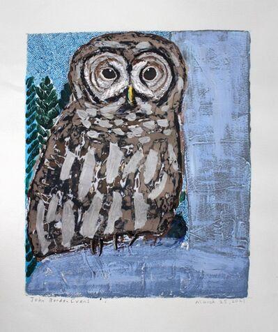 John Borden Evans, 'Barred Owl (Abide)', 2021
