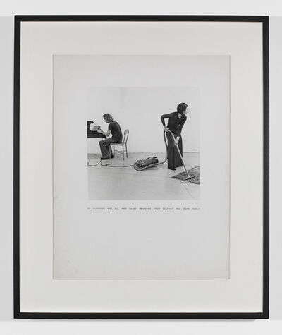 William Wegman, 'He Wondered Why the Radio Stations Were All Playing the Same Thing ', 1971-1972