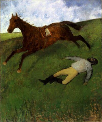 Edgar Degas, 'Jockey Blessé', 1896-1898