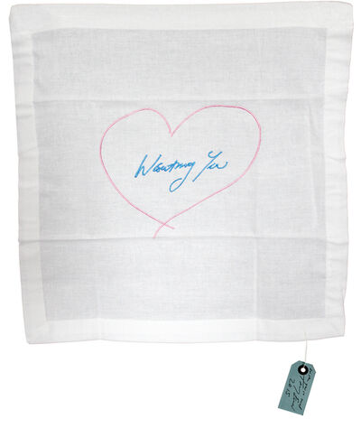 Tracey Emin, 'Wanting You (Pink/ Blue) Napkin', 2014