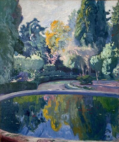 """Pedro Blanes Viale, '""""Fuente en los jardines de la Quinta de Castro""""', ca. 1918"""