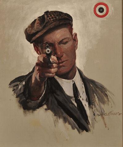 Stanley Massey Arthurs, 'Bulls Eye, Saturday Evening Post Cover', 1909