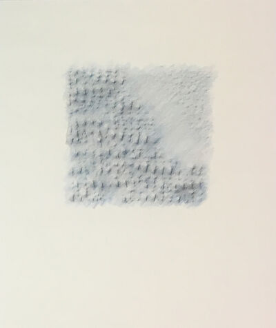 Karen Schiff, 'Blue/White Matzah Rubbing', 2014