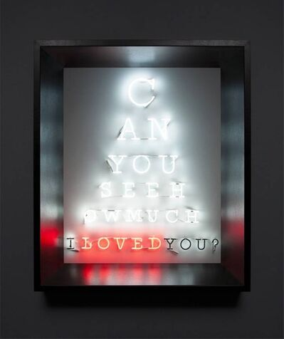 Olivia Steele, 'Can You See How Much I Loved You?', 2012