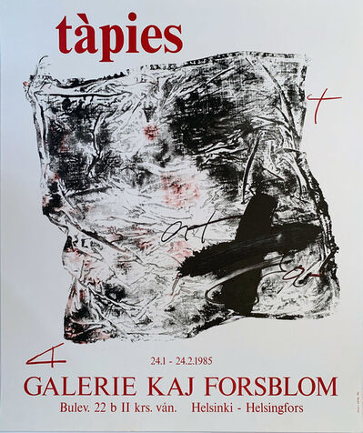 Antoni Tàpies, 'Tapies Galerie Kaj Forsblom, HOLIDAY SALE $100 OFF THRU MAKE OFFER', 1985