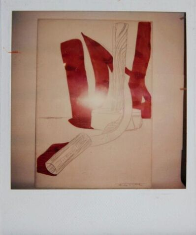 Andy Warhol, 'Andy Warhol, Hammer and Sickle Painting Detail, Polaroid Photograph, 1977', 1977