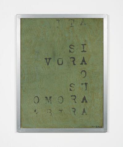 Vincenzo Agnetti, 'Frammento di macchina drogata', 1968