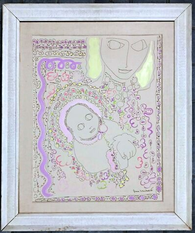 Gloria Vanderbilt, 'Self portrait with son (Anderson Cooper)', ca. 1968