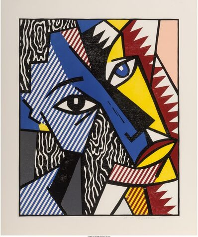 Roy Lichtenstein, 'Head, from Expressionists Woodcuts', 1980
