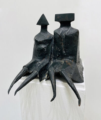 Lynn Chadwick, 'Sitting Couple in Robes', 1980
