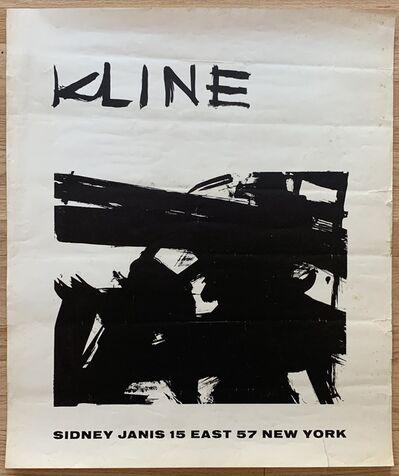 Franz Kline, 'Original Sidney Janis Gallery Exhibition Poster', 1958