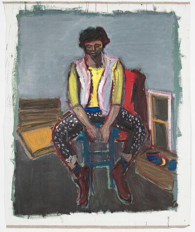 Damien Cabanes, 'Mathilde dans l'atelier', 2017