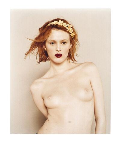 Bettina Rheims, 'Karen Elson, Nue Couronee de Fleurs', 2000