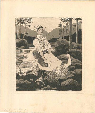 Emil Sartori, 'Erotic Scene XII - Illustration', 1907