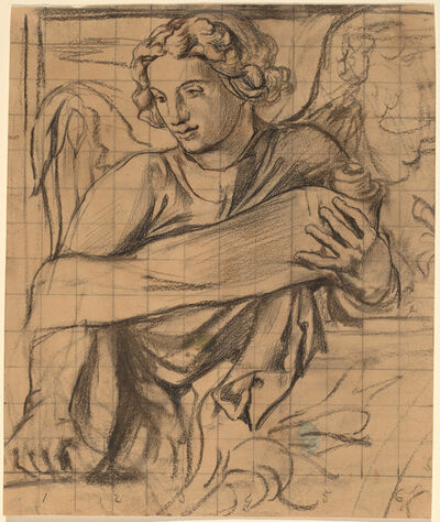 John La Farge, 'Angel - Trinity Church Mural', 1876