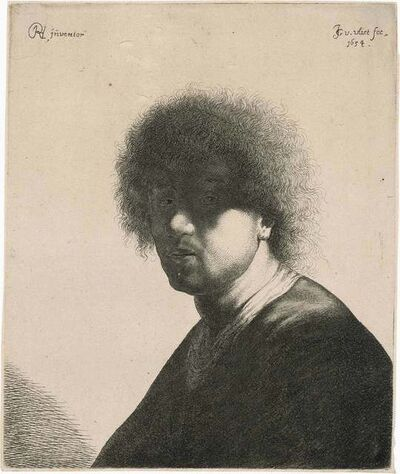 After Rembrandt van Rijn, 'PORTRAIT OF REMBRANDT (HOLLSTEIN 19)', 1634