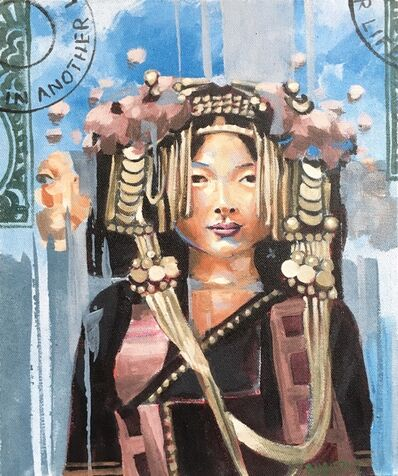 RU8ICON1, 'AKHA HILL TRIBE WOMAN, LAOS', 2017