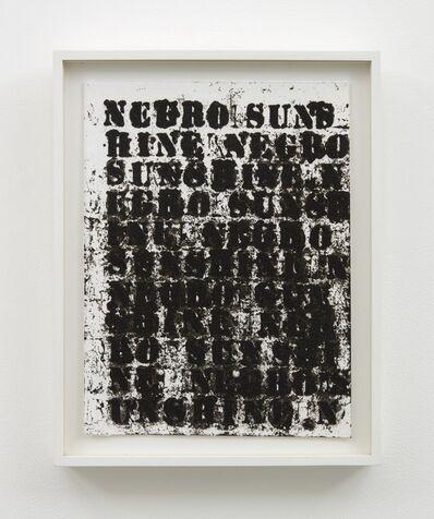 Glenn Ligon, 'Study for Negro Sunshine #2', 2004