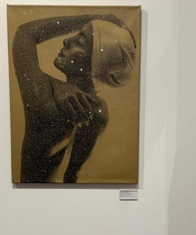 Carole A. Feuerman, 'Gold Shower Profile (Diamond Dust) ', 2012