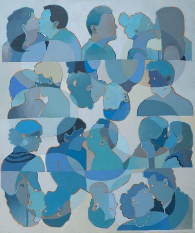 Dan Gluibizzi, 'eight couples kising', 2021