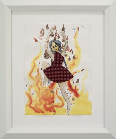 Rina Banerjee, 'Angel of Girls, girls, girls tight walking on fire', 2015